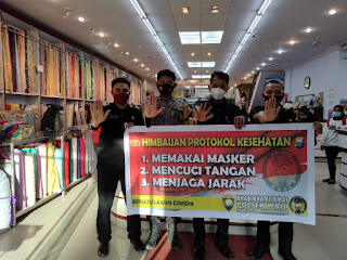 Terus Sosialisasi Pencegahan Covid-19, Bhabinkamtibmas Polres Pelabuhan Makassar Terapkan Prokes
