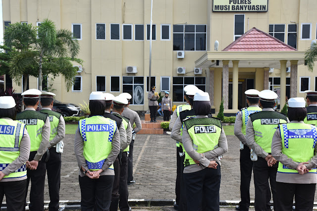 Polres Muba Gelar Apel Pasukan Ops Keselamatan Musi 2019