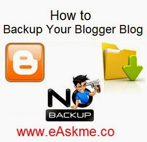 How to Backup Your Blogger Blog : eAskme