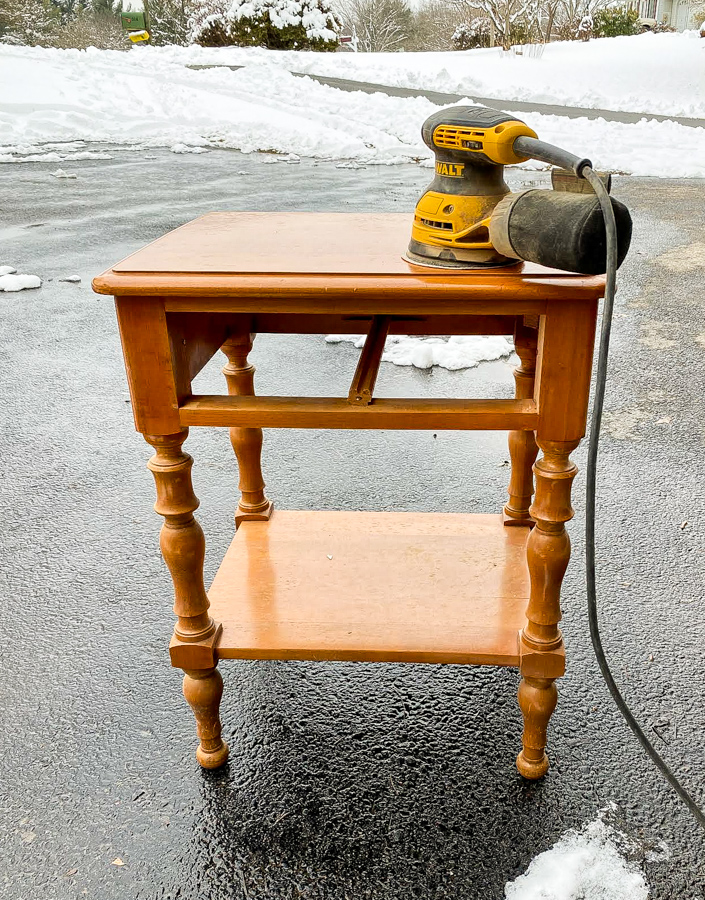 Standing dated side table