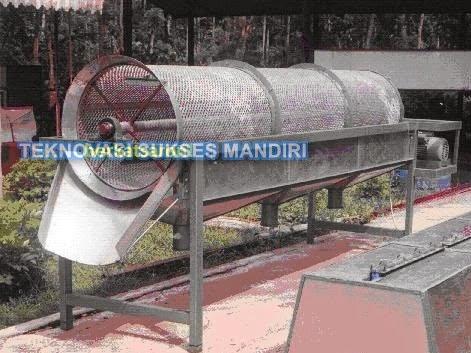 Mesin sortasi kopi dengan sistem rotary