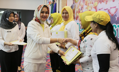 Ibu Riana Arinal Buka Pelatihan Untuk Instruktur Senam Se-Provinsi Lampung