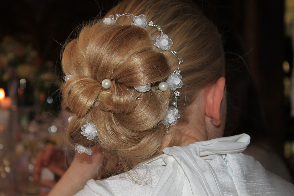 An Updo Hair Care Tip to Control Flyaways