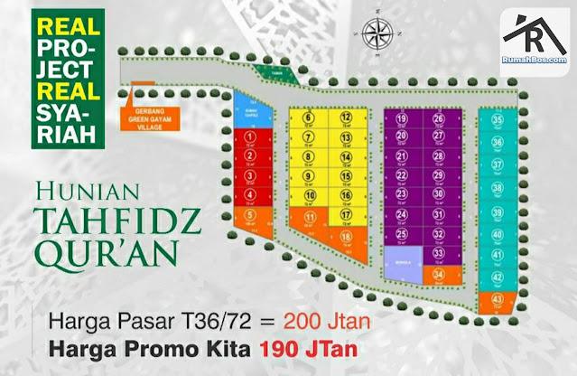 site plan green gayam village jember tahap 1