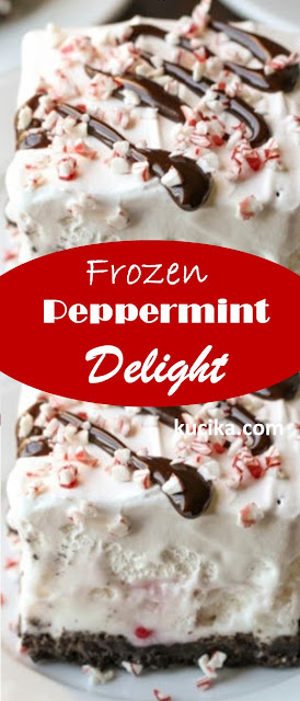 Frozen Peppermint Delight #christmas #dessert