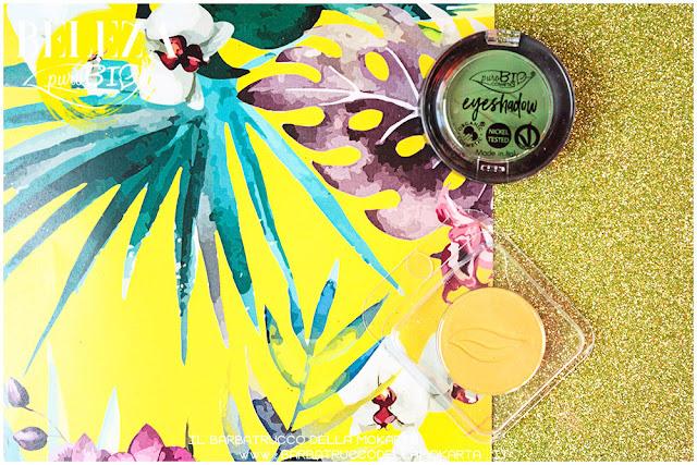 beleza purobio eyeshadow ombretti 17 verde prato 18 giallo indiano