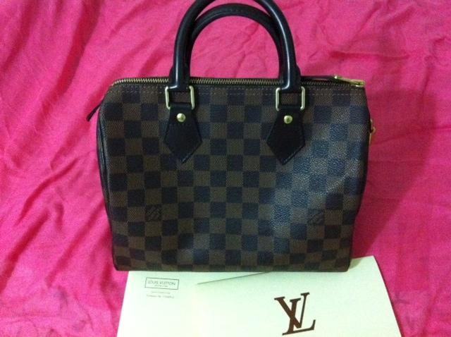 Preloved Louis Vuitton Sdy 25 Damier Canvas