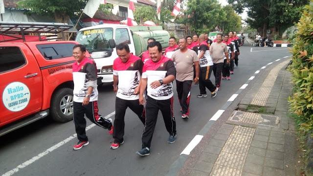 Puluhan Polisi di Bali Dilatih Turunkan Berat Badan Karena Kegemukan