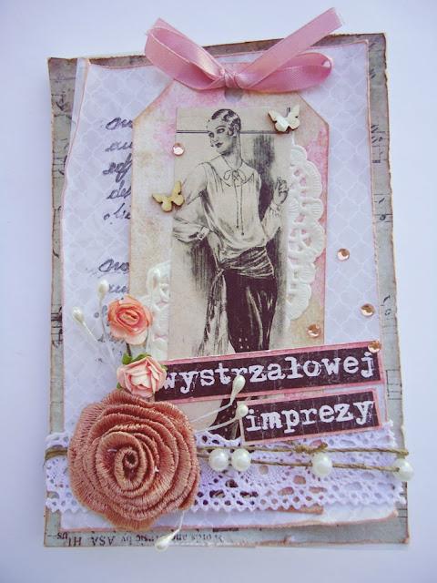 imieniniowa kartka retro dla kobiety