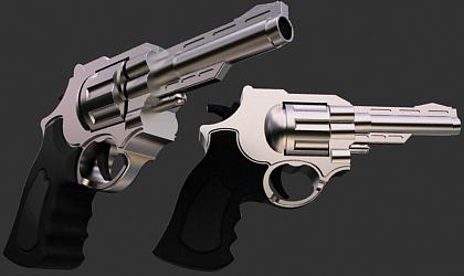 revolver gun 3d model free