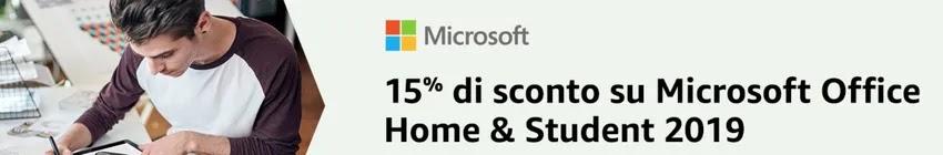 sconto su microsoft office 15% come vantaggio di amazon prime student italia