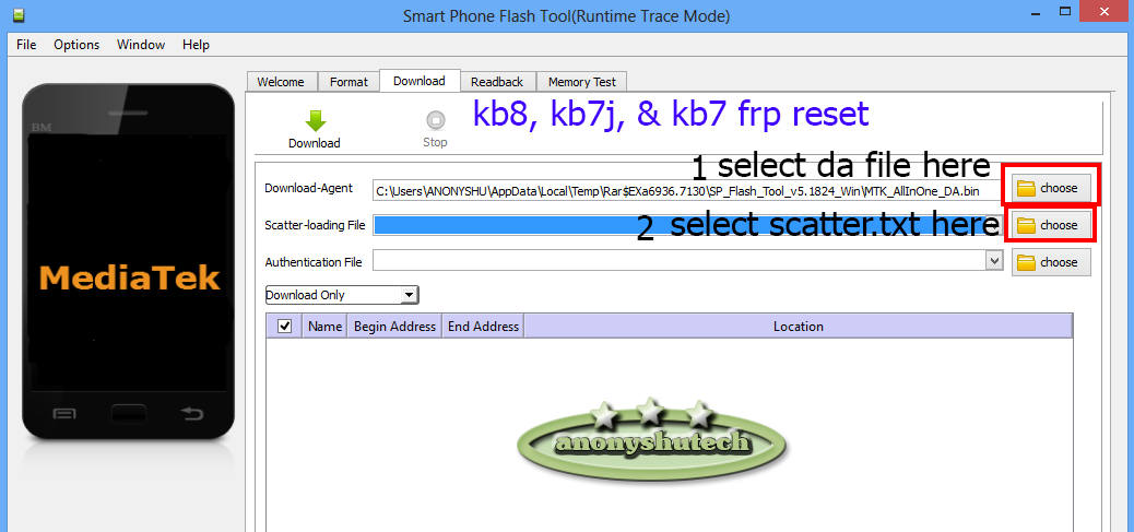 TECNO SPARK 3 KB7J, KB8, & KB7 FRP RESET FILES BY SP FLASH TOOL CODE