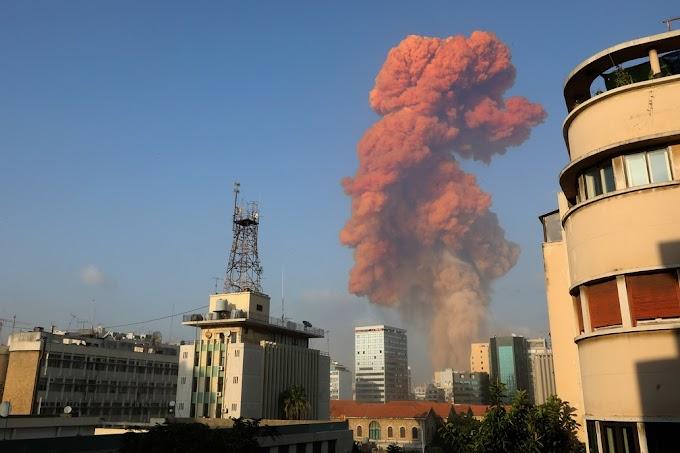 Veja o vídeo do momento exato da grande explosão que atingiu área portuária de Beirute