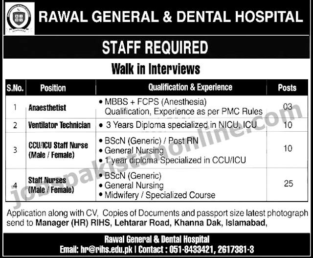 Doctors and Nurses Jobs in Islamabad, Pakistan