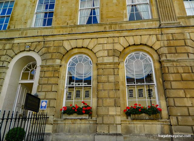 Arquitetura georgiana em Bath: uma fachada de Great Pulteney Street