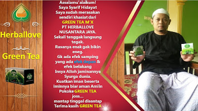 √ Obat Kuat Alami Herbal Green Tea M'X ⭐ Herballove WA 081327570786