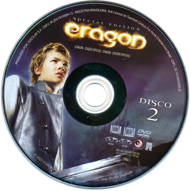 Label DVD Eragon Edição Especial Disco 2