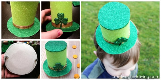 directions for making a DIY leprechaun hat craft for st patrick's day