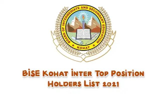 BISE Kohat Result 2021 Inter Top Position Holders List
