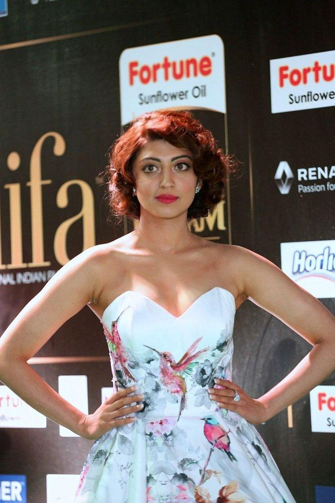 Tollywood Actress Pranitha Subash At IIFA Awards 2017 In White Dress