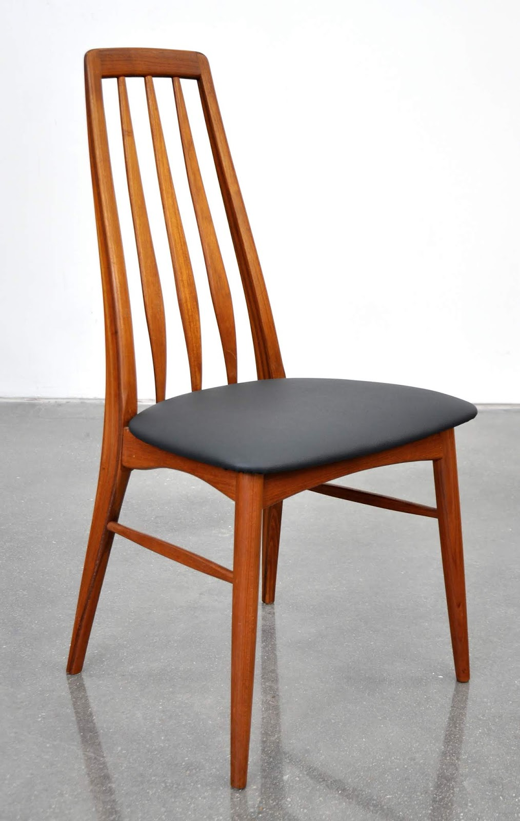 Select Modern Set Of 10 Niels Koefoed Teak Eva Dining Chairs
