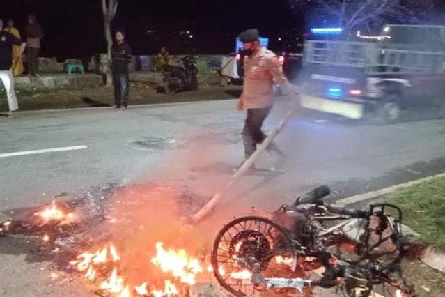 Motor jambret di Kota Bima hangus dibakar warga