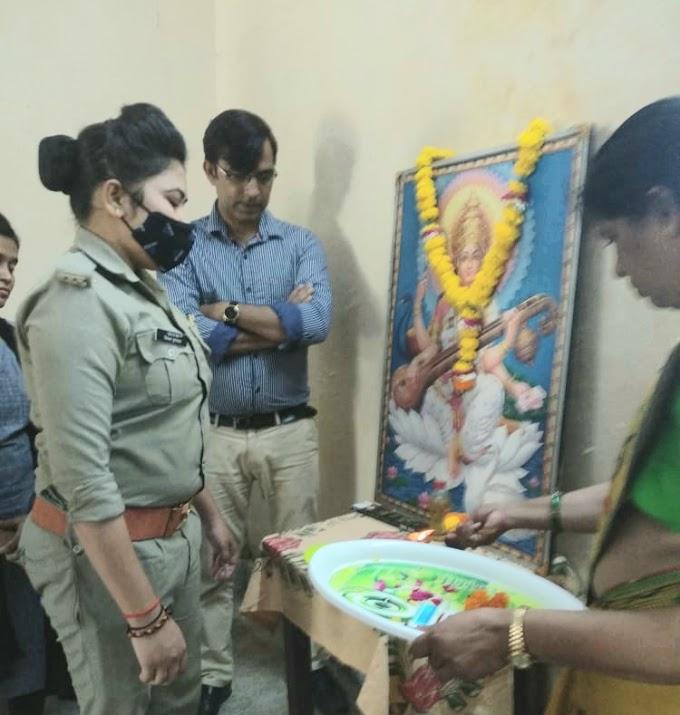 पुलिस आ.नवनीत कुमार ने बच्चो को दिए मार्शल आर्ट के टिप्स