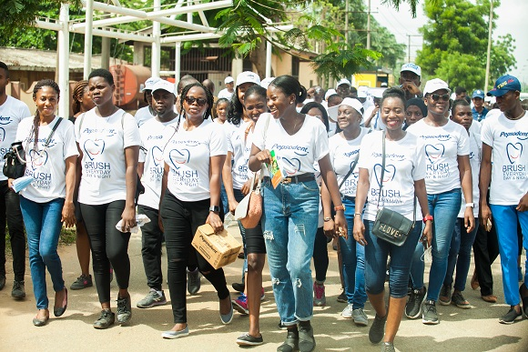 Kaffy, Odunlade, Fathia Balogun and other celebrities join Pepsodent in a health walk to celebrate 2018 World Oral Health Day