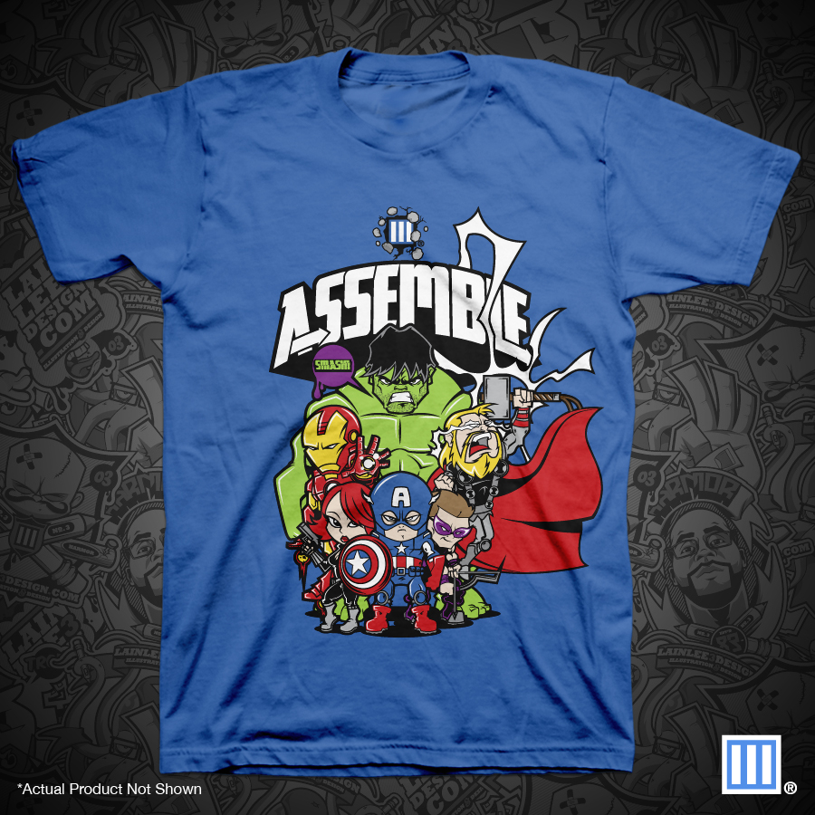 The Blot Says Assemble Avengers Movie T Shirt By Lain Lee Lego Tee 3 Design