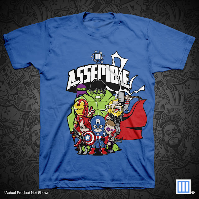 """Assemble"" The Avengers Movie T-Shirt by Lain Lee 3 Design"