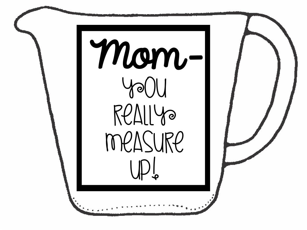 free measuring cup coloring pages - photo#10