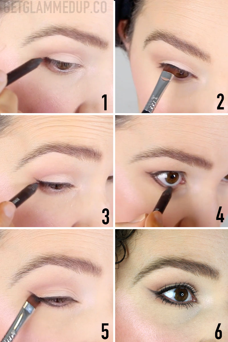 How to apply winged liner for beginners using pencil