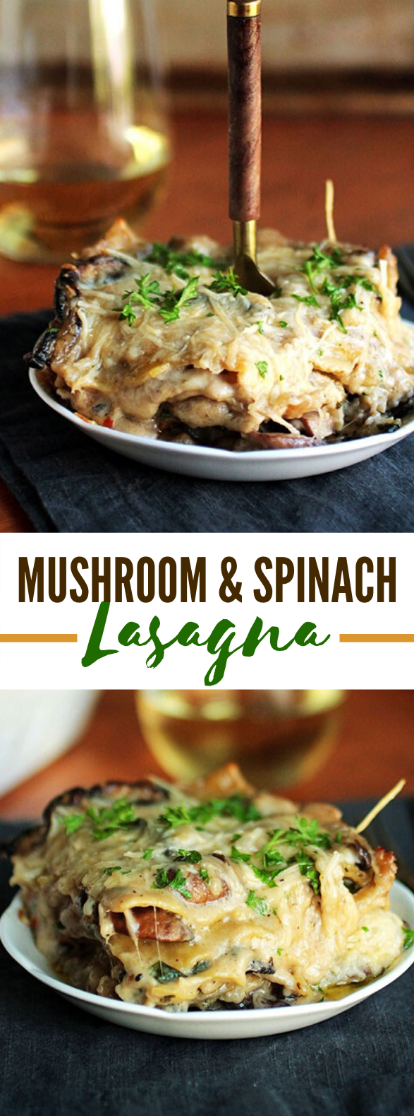 MUSHROOM SPINACH LASAGNA #vegetarian #freezermeals