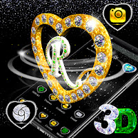 R Letter Love 3D Theme Apk free Download for Android