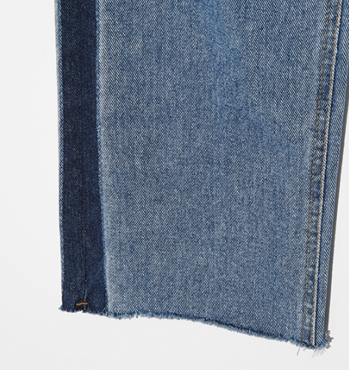 Striped Whisker Wash Jeans