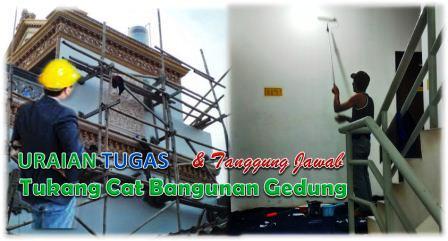 Tugas Tukang Cat Bangunan Gedung