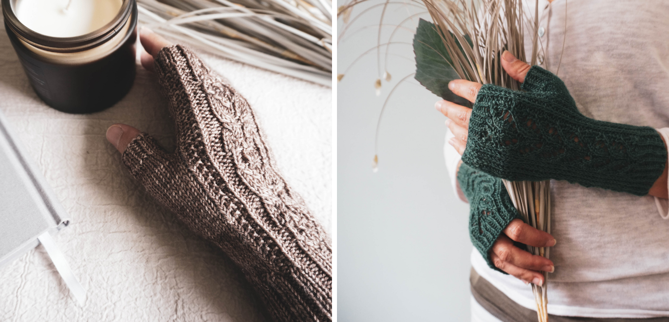 West Beach Knits Bridleway and Kew Mitts
