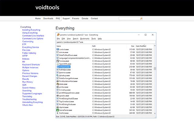 تحميل برنامج Everything لسرعة البحث على نظام ويندوذ