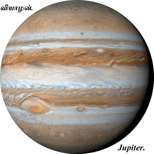 வியாழன்  - பயோடேட்டா - Jupiter bio data.