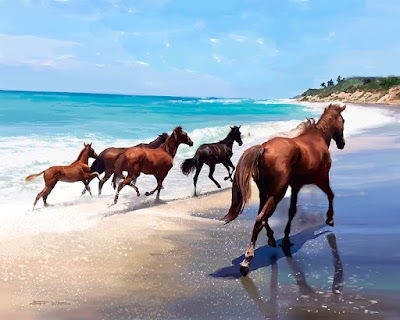 Beach Horses by Jeff Ward