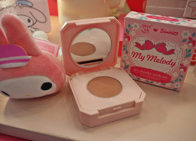 a photo of appy Skin Sanrio Get Cheeky With Me All-Day Hydrating Blush In Hello Kitty and Happy Skin Sanrio Get Cheeky With Me All-Day Hydrating Blush in My Melody.