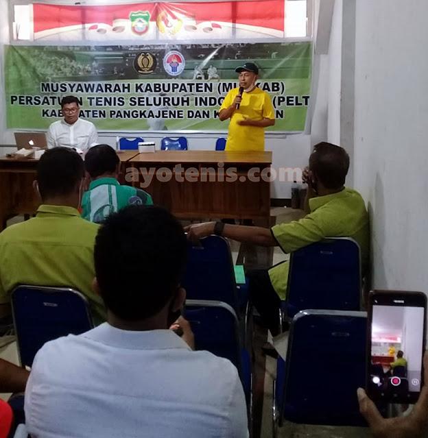 Silahuddin Genda Terpilih Secara Aklamasi jadi Ketua PELTI Pangkep Periode 2020-2025
