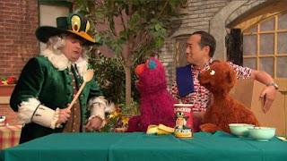Alan, Telly, Baby Bear, the Quacker Duck Man, Bobby Moynihan, Sesame Street Episode 4325 Porridge Art season 43