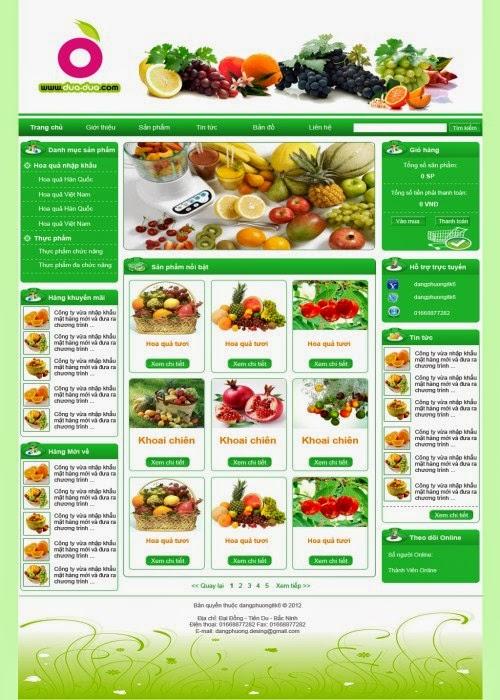 thiết kế website nông nghiệp giá rẻ