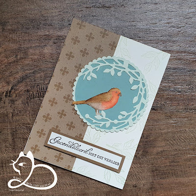 Stampin'Up!®, Free as a Bird, DonderdagLive, Diana's Cards Cats and More, No Line Watercoloring,