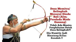 Numitis Jadi Lintah. Dosa Selingkuh Menurut Hindu Bali Tak Ada Tirta Penglukatan (Alm Ida Pedanda Made Gunung)