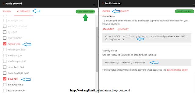 Cara Install Google Font Ke Template Blog