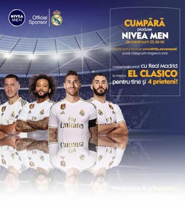 Nivea Men te trimite la meciul El Clasico de la Madrid