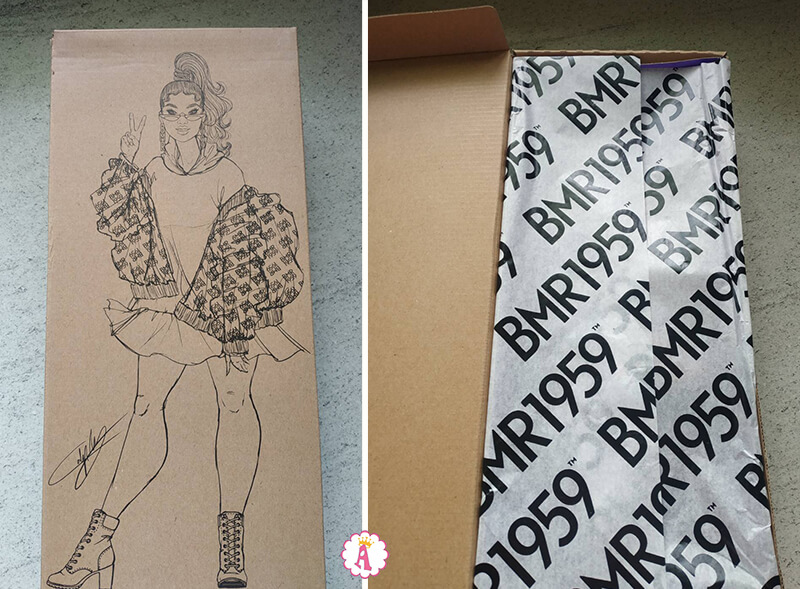 Распаковка куклы Барби африканки BMR 1959