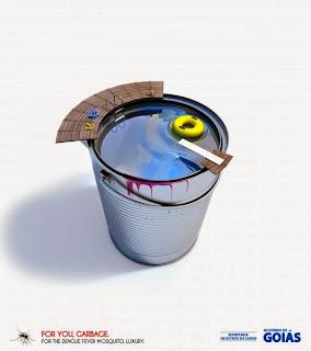 Campaña publicitaria contra la prevención del dengue.